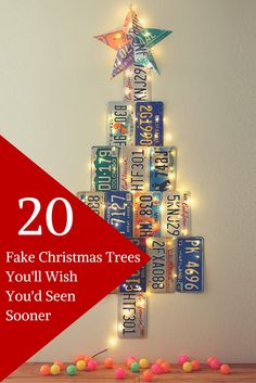 20 unique fake Christmas tree ideas for every room in the house.
