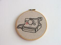 Hand Embroidery Hoop Polaroid Perfect by Moxiedoll on Etsy, $45.00