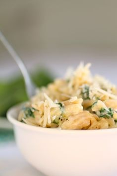 Parmesan & Spinach Orzo - good weeknight fallback - I usually have some approximation of all these ingredients on hand (add some cannellini beans for protein?)