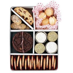 Cute ideas to give cookies....mix and match cookie tins  www.delish.com