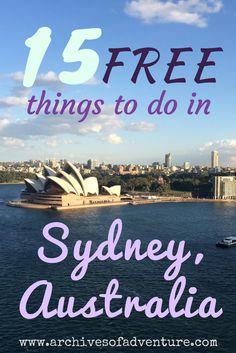 Sydney Australia Travel   Budget Travel Sydney   Free Things in Sydney   Cheap Things in Sydney