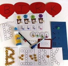 learn to spell your name kit. Use dollar tree cutouts for red balloon activity here.