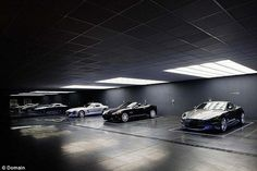 A modern day Batcave (pictured) lies six-metres below Melbourne's mansion suburb of Toorak...