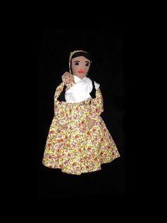 Folk Art Handmade Doll and Baby Vintage by Rubyapplevintage, $12.00