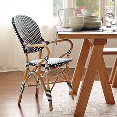 Riviera Armchair – Black   Serena & Lily - I love bistro chairs in breakfast nooks