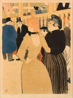 Henri de TOULOUSE-LAUTREC (1864-1901)  Au Moulin Rouge, la Goulue et sa soeur, 1892 Lithographie. Sujet: 455 x 345 mm; feuille: 520 x 405 mm