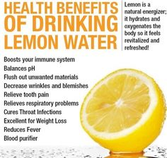 The #health benefits of drinking lemon water! #diet #healthy #fitness