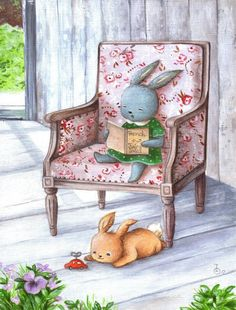 Irene Owens - mama bunny reading to her little bunny