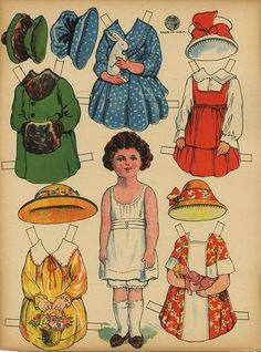 Vintage Paper Doll---(i would spend hours playing paper dolls---bp)