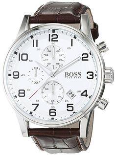 Hugo Boss Herren-Armbanduhr HB-2006 Chronograph Quarz Leder 1512447: Hugo Boss: Amazon.de: Uhren