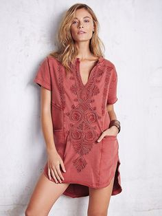 9ddf352cedd71 Free People Morocco Pocket Tunic at Free People Clothing Boutique Bohemian  Style