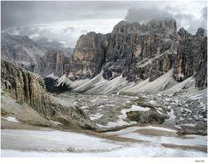 Passo di Falzarego, view from Monte Lagazuoi, Dolomiti, Italy