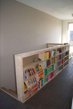 le garde-corps/bibliothèque côté palier - Ch'tite MOB passive par Imprévu sur ForumConstruire.com: