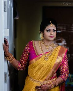 I'm ready to share my wedding vows. I haven't rehearsed as it's pure and straight from my heart. Tamil Wedding, Wedding Vows, Saree Wedding, Fancy Blouse Designs, Saree Blouse Designs, Wedding Photography Poses, Heart Photography, Saree Poses, Hindu Bride