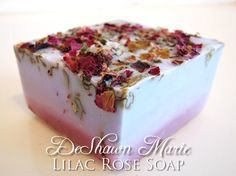 SOAP- Christmas Gift - Lilac Rose Soap - Soap Gift - Hostess Gift- Vegan Soap - Pink Soap