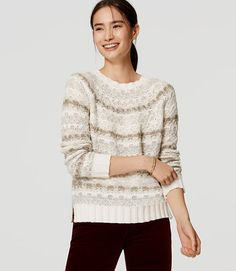 Image of Relaxed Fairisle Sweater