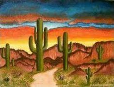 Southwest Art … Southwest Scene (Sold) – by Lar Shackelford of FOTM Cactus … Oil Painting Abstract, Watercolor Paintings, Rubens Paintings, Southwestern Art, Desert Art, Cactus Art, Cactus Decor, Landscape Quilts, Mexican Art