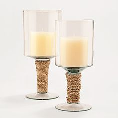 jute-wrapped hurricane candleholder  - at world market, but would be super simple to make