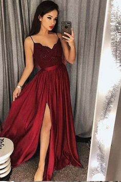V Neck Prom Dress, Prom Dress Ball Gown, Lace Prom Dress, Bridesmaid Dresses Prom Dress V-neck Bridesmaid Dresses 2018 Outlet Feminine 2019 Bridesmaid Dresses Spaghetti Strap Prom Dresses Long Lace V Neck Maxi High Split Evening Ball Gowns 2019 Split Prom Dresses, Straps Prom Dresses, V Neck Prom Dresses, Prom Dresses 2018, Lace Bridesmaid Dresses, Evening Dresses, Dress Prom, Dress Formal, Long Dresses