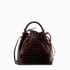 Zara Croc Leather Bucket Bag - ZARA COLECCIÓN AW14 - SACA PIEL COCO - Bolso