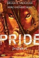 Pride of Baghdad by Brian K Vaughan and Niko Henrichon  -- In the spring of 2003, a pride of lions escaped from the Baghdad zoo during an American bombing raid. Lost and confused, hungry but finally free, the four lions roamed the decimated streets of Baghdad in a desperate struggle for their lives. In documenting the plight of the lions, PRIDE OF BAGHDAD raises questions about the true meaning of liberation – can it be given or is it earned only through self-determination and sacrifice?