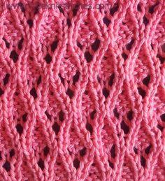 Free lace knitting stitches Array