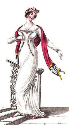 Evening dress  from La Belle Assemblée (Feb 1811)