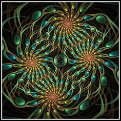 Peacock by WhiteKimahri on DeviantArt Fractal Images, Fractal Art, Peacock Images, Fractal Design, Computer Art, Black Neon, Graphic Illustration, Illustrations, Wall Treatments