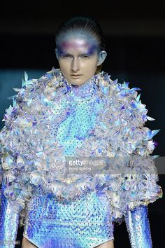 A model walks the runway during the Yuima Nakazato Fall/Winter 2016-2017 show as part of Paris Fashion Week on July 3, 2016 in Paris, France.