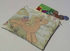 Coin purse made with vintage My Little Pony fabric - Applejack £5.00