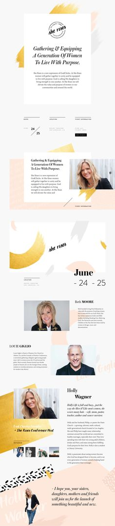 Brand Enhancement and Site Design &Development for She Rises conference http://sherises.com #floagency #typography #branding #brandidentity #illustration #graphicdesign #interactive #webdesign #development