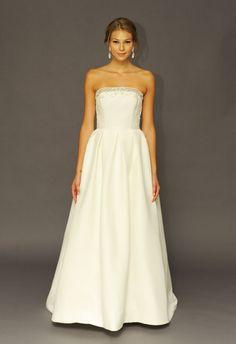 Strapless A-Line Wedding Dress | Alyne by Rita Vinieris | Kurt Wilberding | The Knot Blog