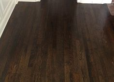 Wood Flooring JACOBEAN stain is my first choice not ebony or espresso for your hardwood floors… Red Wood Stain, Hardwood Floor Stain Colors, Refinishing Hardwood Floors, Oak Hardwood Flooring, Espresso Wood Stain, Red Oak Floors, Dark Wood Floors, Oak Floor Stains, Bedroom Wood Floor