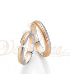 Βέρες γάμου δίχρωμες με διαμάντι Breuning 4215-4216