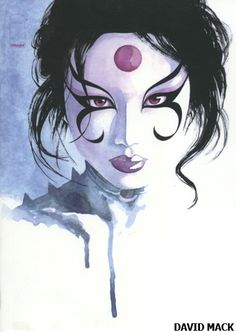 #Kabuki is a traditional #Japanese dance-drama form of theatre, known for its dramatization and elaborate make-up worn by some of the performers. It consists of a single-gendered cast. (Picture taken from David Mack's gallery.)