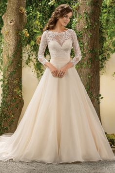 $176.29 –Long Sleeve Open Back Lace Bodice Ball Gown Wedding Dress www.ucenterdress..... Made to measure & Free Shipping! Shop lace wedding dresses, off the shoulder wedding dresses, open back wedding dresses, wedding dresses with sleeves, wedding dresses with straps, simple wedding dresses, plus size wedding dresses, short wedding dresses…We have the best designer Wedding Dresses 2017 on sale at #UcenterDress.com today!