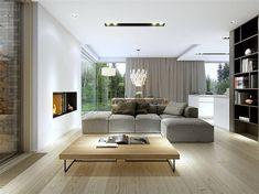 wd p 75 New Home Designs, Home Design Plans, Home Interior Design, Affordable Prefab Homes, Small House Design, Design Case, Scandinavian Interior, Home Fashion, Living Room Designs