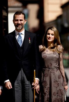 Los Príncipes de Asturias, en la entrega de los Premios Cervantes
