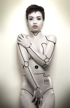 35 Realistic Android Cyborg Girls Photo manipulations - Page 2 of 2 - Cyborg Girl, Female Cyborg, Robot Makeup, Ghost In The Machine, Alien Concept Art, Robot Girl, Futuristic Art, Maquillage Halloween, Cg Art