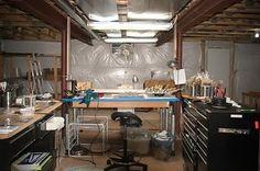 artist studio encaustic