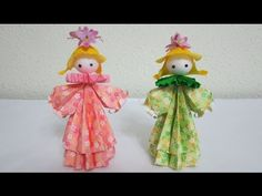 TUTORIAL - How to make 3D Paper Doll - Petite Flower Girls (3D 纸娃娃) - YouTube