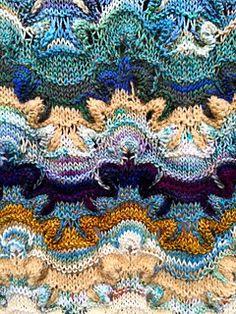 Ravelry: Jacaranda pattern by Kieran Foley Shawl Patterns, Crochet Stitches Patterns, Knitting Stitches, Knitting Designs, Knitting Yarn, Knitting Projects, Hand Knitting, Stitch Patterns, Knitting Patterns
