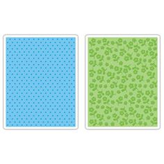 Sizzix Textured Impressions Embossing Folders 2PK - Dots and Flowers Set