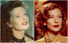 15 great actors who portrayed real-life personalities perfectly - Channels for DIY Private Life, Fascinator, Famous People, Real Life, Personality, Katharine Hepburn, Cate Blanchett, Actors, Headdress