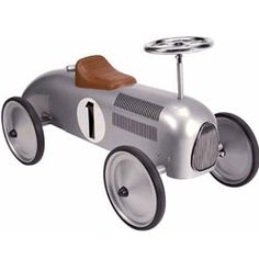 Ride on Toys - Classic Metal Racer in Silver - Children's Toys and Gifts