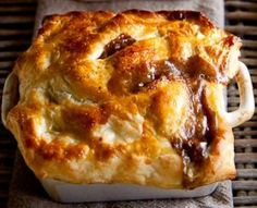 Steakhouse pot pie with Cabernet and mushrooms