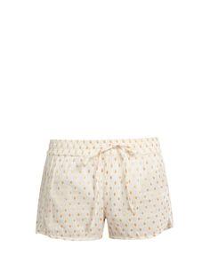 Mes Demoiselles Dylan fil coupé cotton-blend shorts