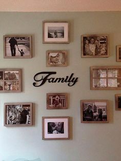 Family Gallery Wall In 2019 Home Decor Family Pictures Modern Picture Wall Idea. Family Pictures On Wall, Room Pictures, Family Picture Walls, Family Wall Collage, Family Wall Decor, Wall Decor Pictures, Displaying Family Pictures, Family Picture Collages, Family Photo Frames