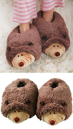 Hedgehog Slippers!!