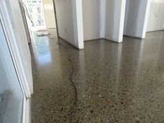 This is the type of polished concrete flooring with feature Polished Concrete Kitchen, Polished Concrete Flooring, Exposed Concrete, Stone Flooring, Basement Flooring Options, Best Flooring, Types Of Flooring, Garage Flooring, Interior Concept